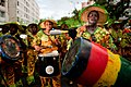 Guadeloupe winter carnival, Pointe-à-Pitre parade. A group of drummers during carnival procession(photo reportage, outdoor portrait).jpg