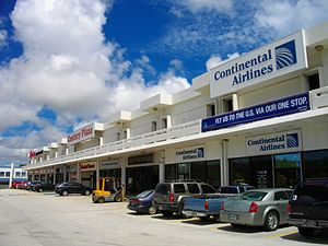 Continental Micronesia - Guam Century Plaza in Tamuning, Guam, which houses Continental Micronesia/Continental Airlines city ticket offices