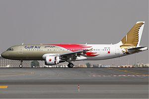 Gulf Air - A Gulf Air Airbus A320-200 in Bahrain Air Show livery