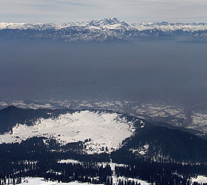 Gulmarg - View of Gulmarg from Gulmarg Gondola