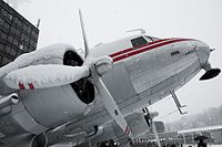 HB-IRN Douglas DC-3 (Swissair) 20100131-DSC 2307 (4872708262).jpg