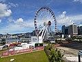 HK 中環 Central 海濱 Waterfront promenade 民耀街 Man Yiu Street 行人天橋 footbridge view July 2020 SS2 02.jpg