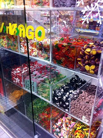 Bulk confectionery - A pick 'n' mix candy display in Hong Kong.