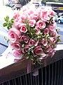 HK TST Peninsula Hotel Hong Kong outside carpark pink roses Oct-2012.JPG