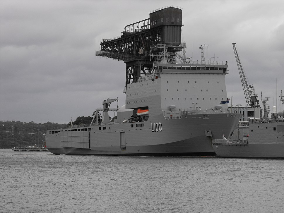 HMAS Choules starboard bow