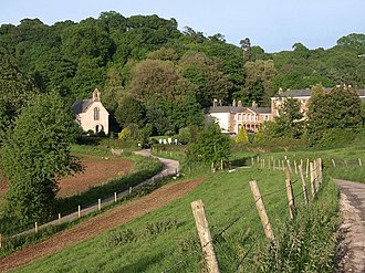 Haccombe - Haccombe House and St Blaise's parish church