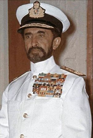 Ethiopian Navy - Haile Selassie in the uniform of the Ethiopian Navy.