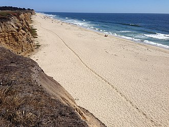 Poplar Beach - Horse trail along Poplar Beach