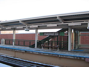 Halsted station (CTA Green Line) - Image: Halsted CTA Green Line