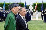 Hamid Karzai and Donald Rumsfeld, May 23, 2005.jpg
