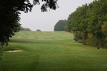 English: Hampstead Golf Course A lone golfer c...