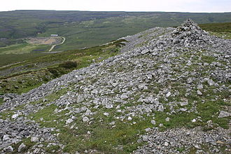 History of Yorkshire - A prehistoric settlement on Harkerside Moor in Swaledale.