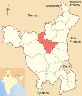 Localisation de District de Jind जींद जिला