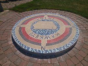 Hawkeye Point - Mosaic marking the highest natural point in the state of Iowa.