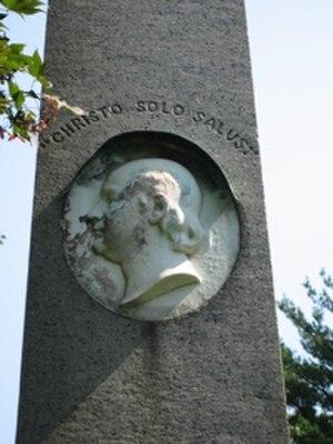 Francis L. Hawks - Detail from F.L. Hawks' grave at Christ Church, Greenwich