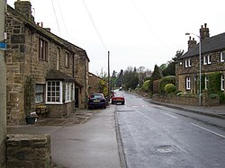 Hawksworth Village, looking NW along Old Lane - geograph.org.uk - 410434.jpg