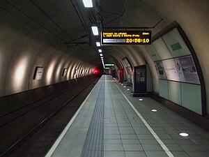 Heathrow Terminal 4 railway station - Image: Heathrow Terminal 4 stn platform 2 look to London