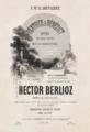 Hector Berlioz, Béatrice et Bénédict score title page - Restoration.png