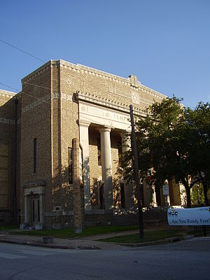 High School for the Performing and Visual Arts - The school was established in the former Temple Beth Israel