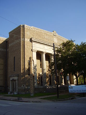 History of the Jews in Houston - Previous Temple Beth Israel, now Heinen Theatre of the Houston Community College
