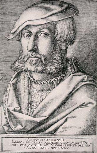 Heinrich Aldegrever - Heinrich Aldregrever, self-portrait