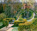 Heinrich Vogeler Frühlingshecken im Bauerngarten 1913.jpg