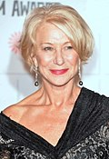Phooto o Helen Mirren at the Moët Breetish Independent Film Awairds in 2014.