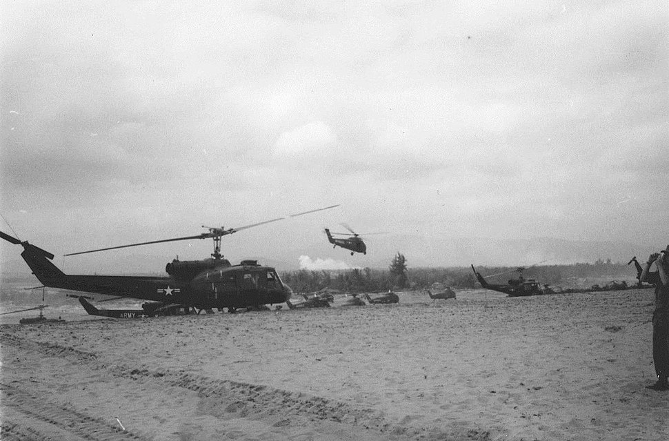 Helicopter Staging Port, Operation Double Eagle, 1966 (16520824409)