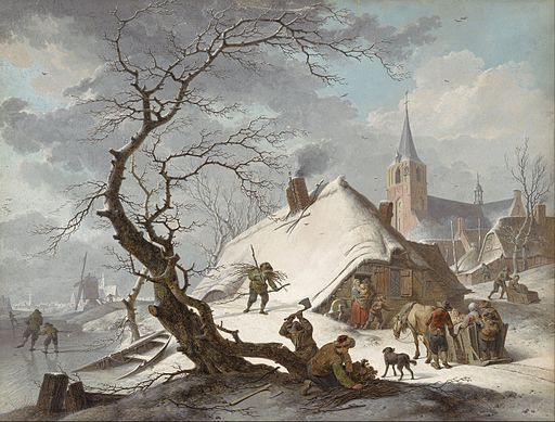 Hendrik Meyer - A Winter Scene - Google Art Project