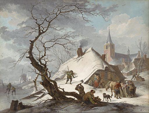Hendrik Meyer - A Winter Scene - Google Art Project