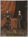 Henrik, 1473-1541, hertig av Sachsen, Katarina, 1477-1561, prinsessa av Mecklenburg - Nationalmuseum - 15270.tif