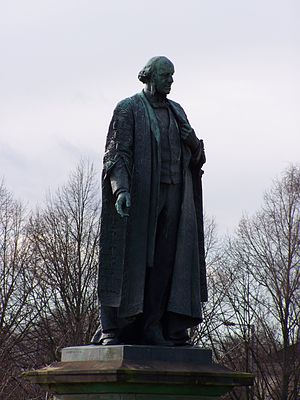 Henry Bruce, 1st Baron Aberdare - Statue overlooking the Main Building of Cardiff University