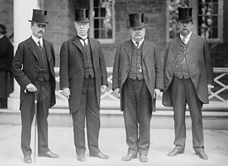 Niagara Falls peace conference - Henry Percival Dodge, and Joseph Rucker Lamar, and Frederick William Lehmann, and Robert F. Rose at the Niagara Falls peace conference in 1914