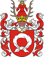 Nałęcz coat-of-arms. Conrad, who possessed this Polish coat-of-arms, declined a British knighthood.