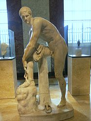 Hermes with the sandal