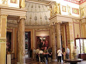 Exedra - An exedra adopted by Leo von Klenze for a neoclassical interior space, at the Hermitage in Saint Petersburg, Russia