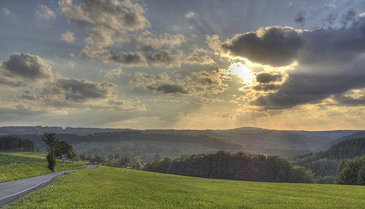 Landscape Herscheid, Germany