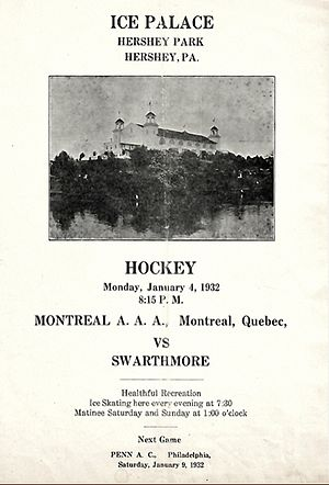 Hershey Bears - Hershey Ice Palace 1932 amateur hockey program