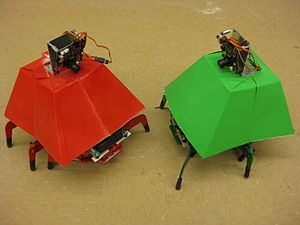 Hexapod (robotics) - Two hexapod robots at the Georgia Institute of Technology with CMUCams mounted on top