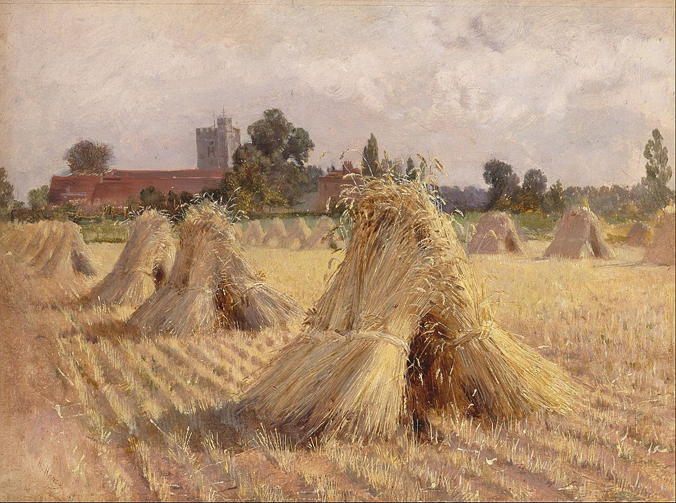 Heywood Hardy - Corn Stooks by Bray Church - Google Art Project