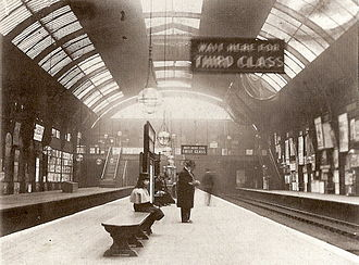 Circle line (London Underground) - High Street Kensington in 1892