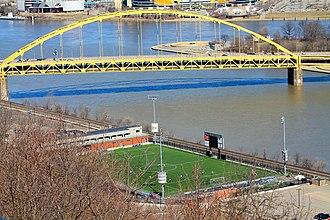 Pittsburgh Riverhounds SC - Image: Highmark Stadium from Mount Washington