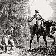 A highwayman, from an old print.