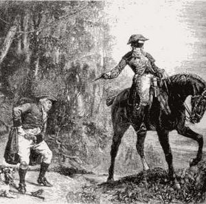 Thief-taker - A highwayman, from an old print.