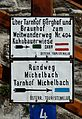 Hiking sign at Michelbach, Lower Austria.jpg