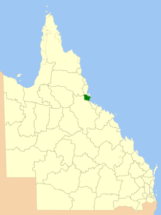 Shire of Hinchinbrook - Location within Queensland