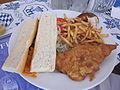 Hofbrau Miami Schnitzel sandwich.JPG