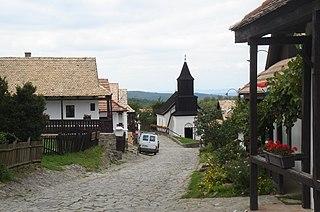 Hollókő Place in Nógrád, Hungary