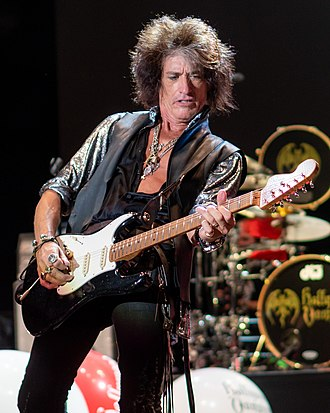 Joe Perry (musician) - Perry performing with Hollywood Vampires at Wembley Arena in June 2018