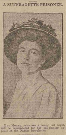 Horatia Dorothy Moloney Dundee Courier - Thursday 29 October 1908.jpg